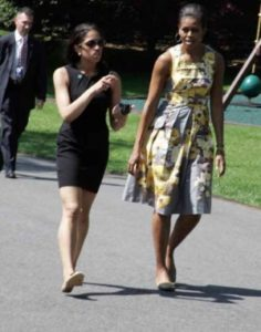 Kristin walking with First Lady